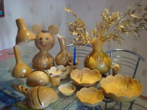 посуда из тыквы горлянки