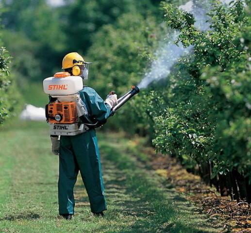 обработка деревьев препаратом КАС