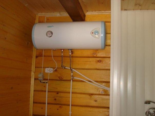 Накопительный водонагреватель на даче своими руками