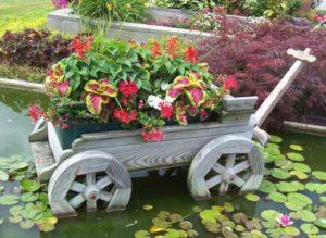 подставка для растений в саду