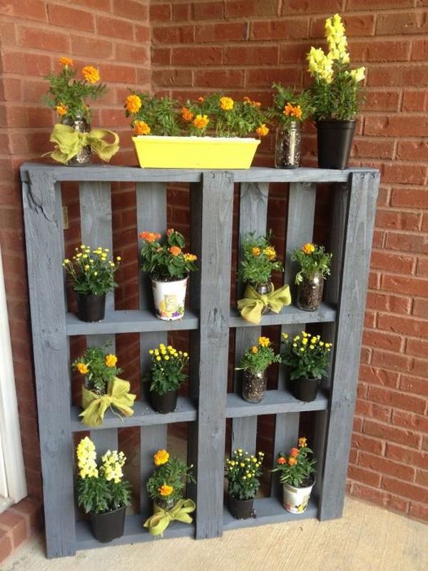 Ящики для цветов из поддонов своими руками 27