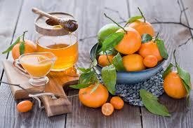 сок мандарины и мед