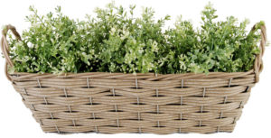 плетеная корзинка для цветов